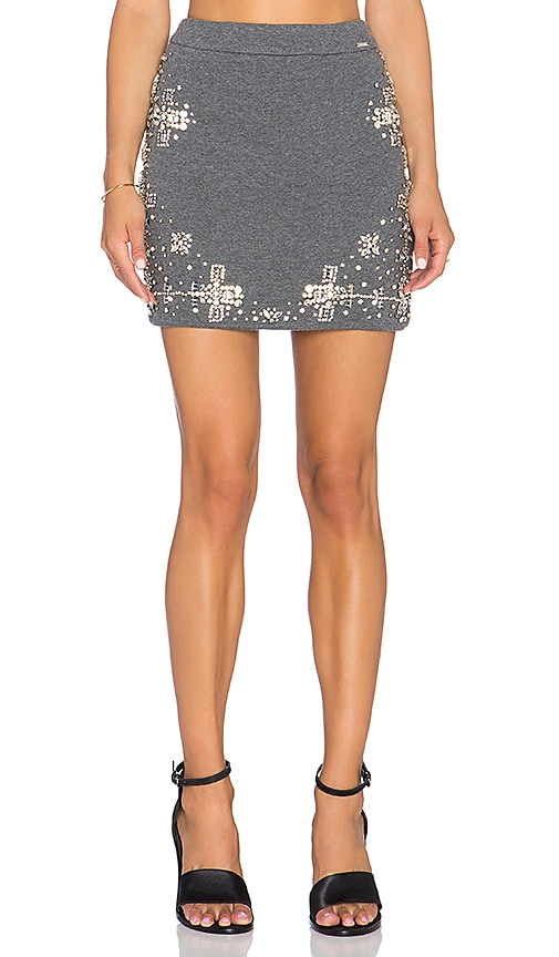 HEMANT AND NANDITA Crystalized Mini Skirt in Green
