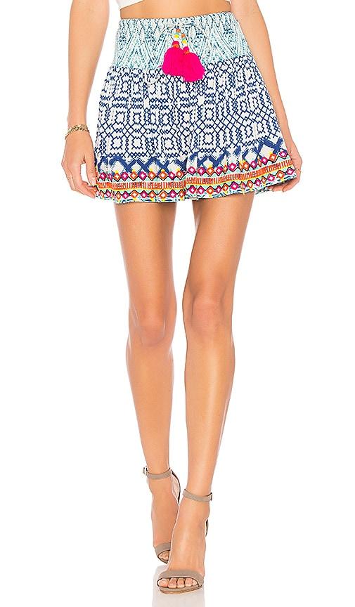 HEMANT AND NANDITA Mini Skirt in Blue