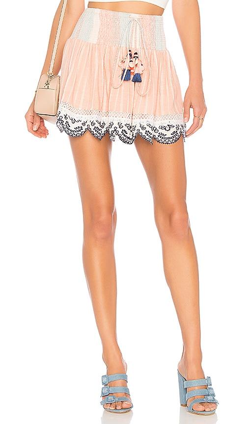 HEMANT AND NANDITA Mini Skirt in Peach