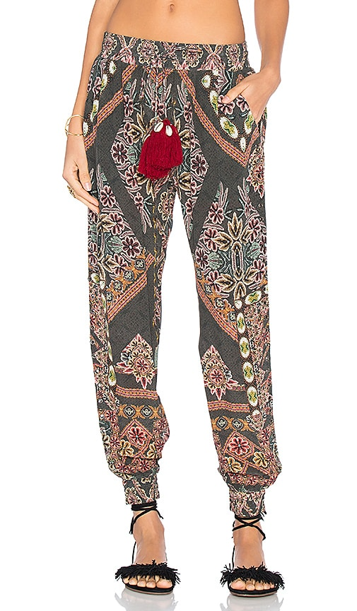HEMANT AND NANDITA Tassel Pant in Green