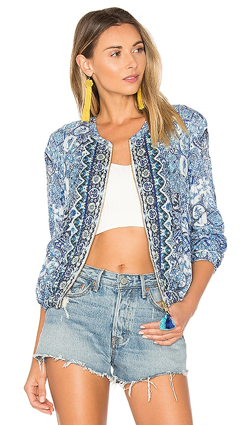 HEMANT AND NANDITA Ceramic Jacket in Blue