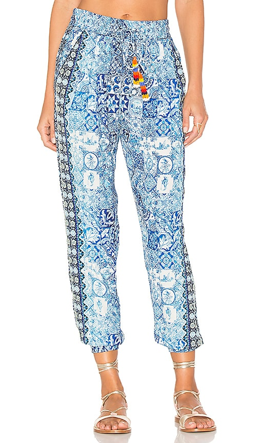 HEMANT AND NANDITA Ceramic Jogger Pant in Blue