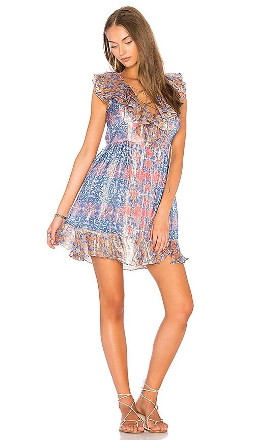 HEMANT AND NANDITA Mini Dress in Blue