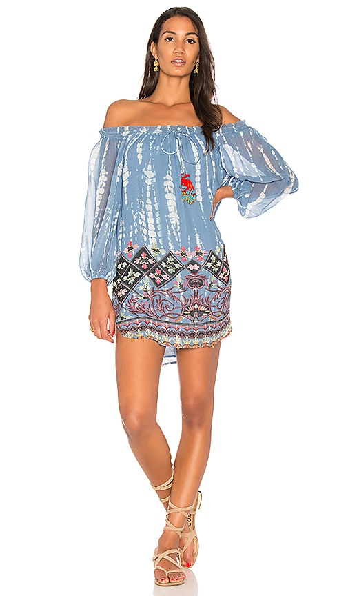 HEMANT AND NANDITA Dipped Tunic in Blue