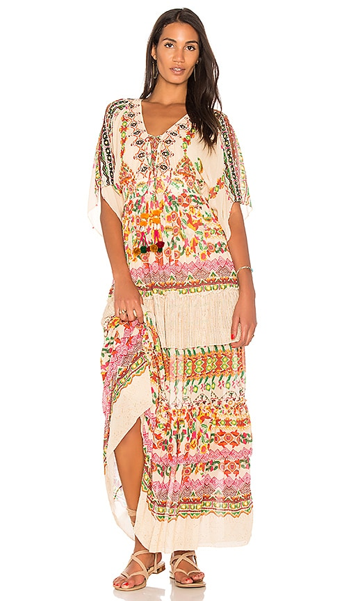 HEMANT AND NANDITA Kinship Maxi Dress in Cream