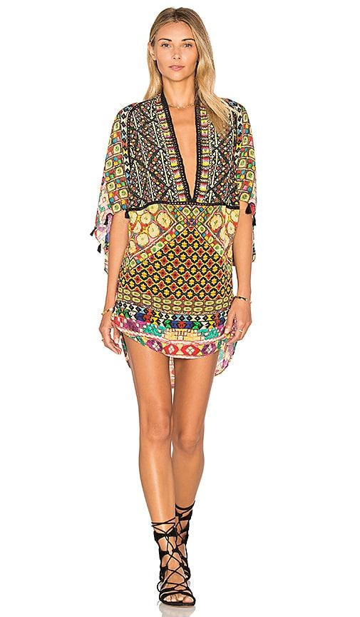 Deep V Caftan Dress