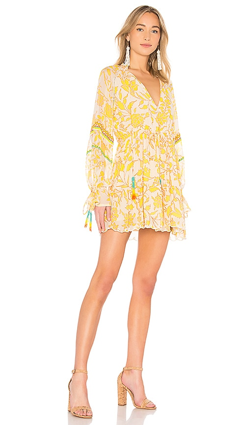 HEMANT AND NANDITA Clarion Mini Dress in Yellow