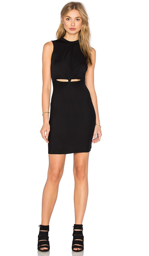 Benjamin Jay Jourdan Mini Dress in Black