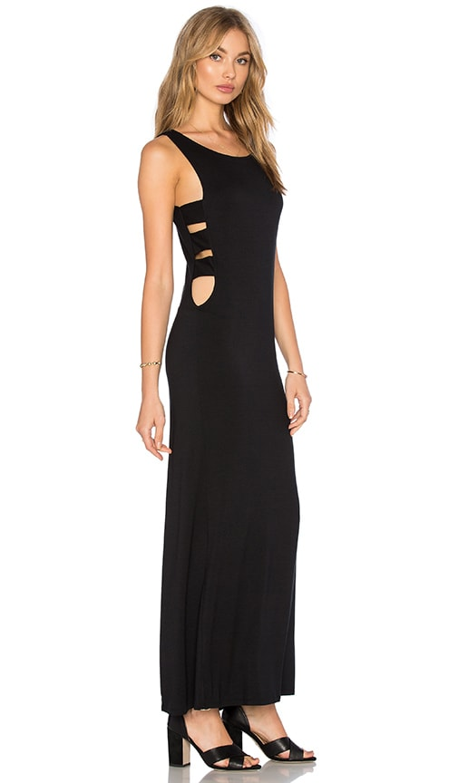 Benjamin Jay Splicer Maxi Dress in Black