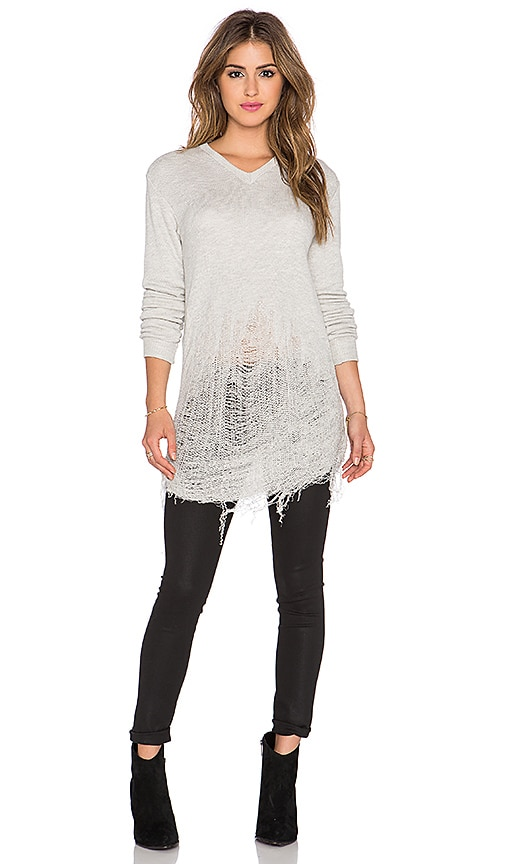 Benjamin Jay Circe Shred Sweatshirt in Armadillo