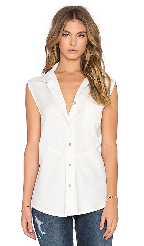 Benjamin Jay Madison Button Up Tank in White