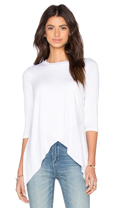 Benjamin Jay Tulip Top in White