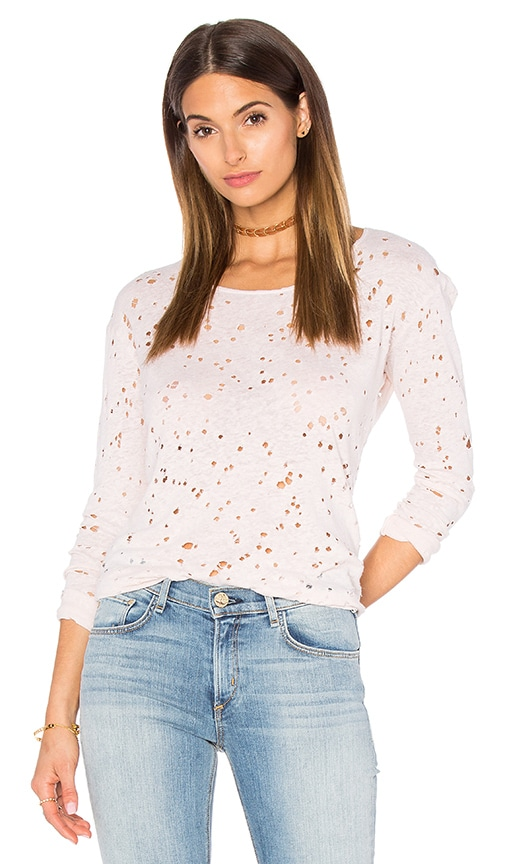 Benjamin Jay Ryon Long Sleeve Tee in Blush