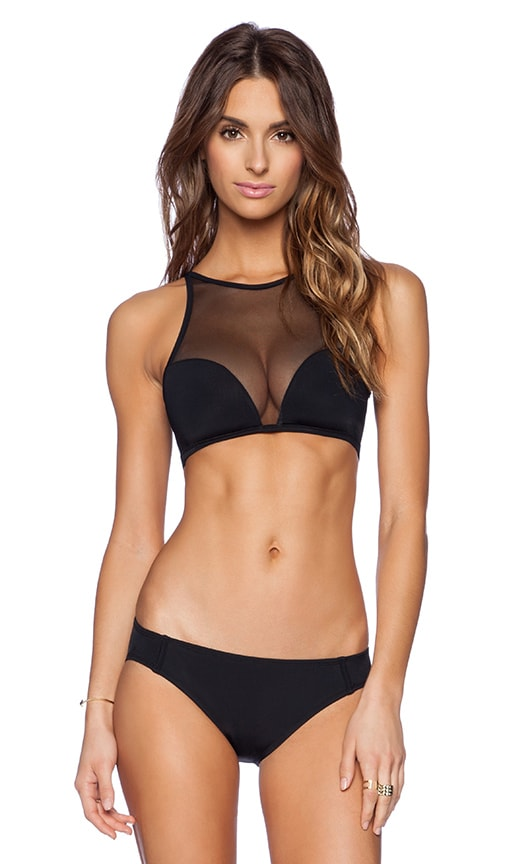 Beth Richards Faye Bikini Top in Black
