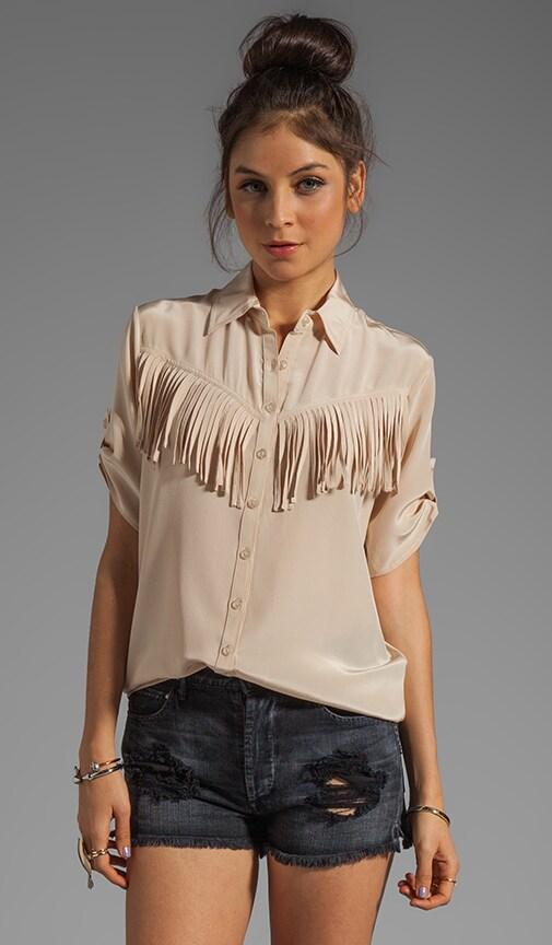 Silk Western Fringe Shirt