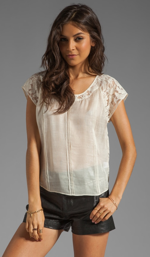 Pintuck Lace Back Shirt