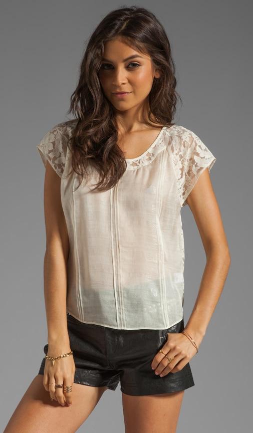 Pintuck Lace Back Shirt