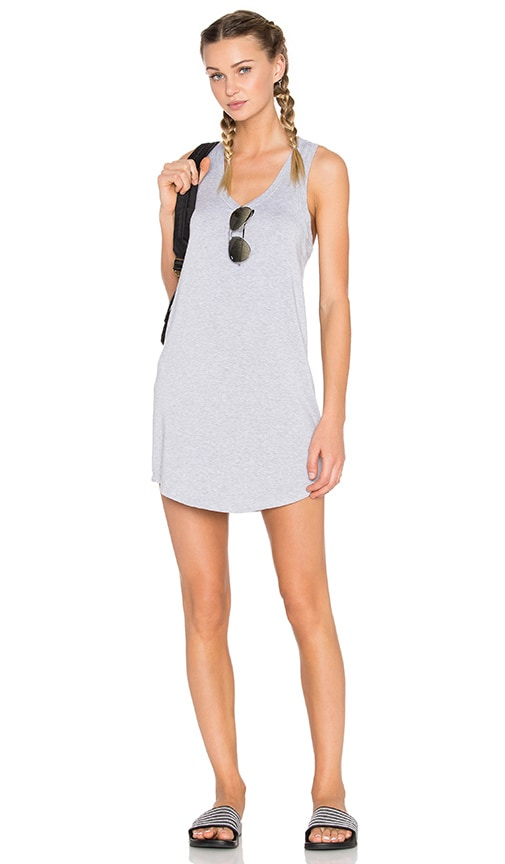 Beyond Yoga Modal Baby Terry Shift Tank Dress in Gray