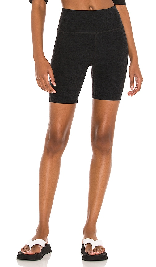Beyond Yoga SPACEDYE TEAM POCKETS HIGH WAISTED BIKE SHORT