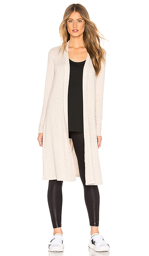 081ab01b64 Beyond Yoga High Slits Long Duster in Oatmeal Heather | REVOLVE