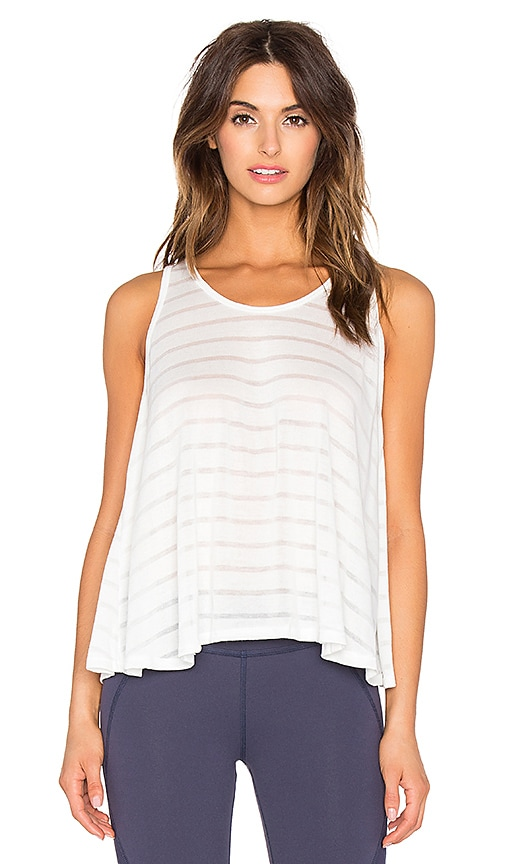 Shadow Stripe Trapeze Crossover Tank