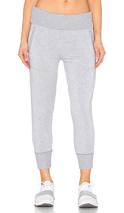 Beyond Yoga Modal Baby Terry Foldover Ribbed Sweatpant in Gray
