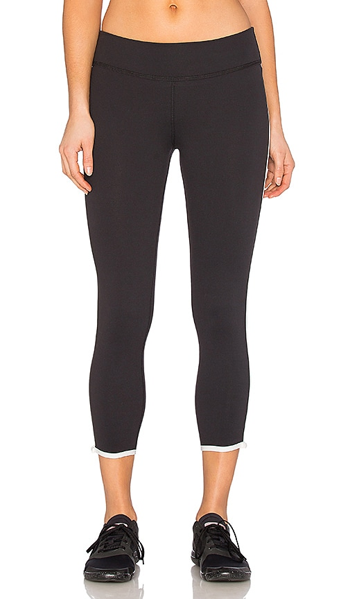 Beyond Yoga x Kate Spade Framed Capri Legging in Black