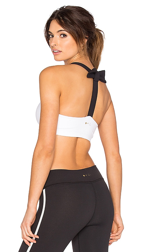 Beyond Yoga x Kate Spade T Back Bra in White
