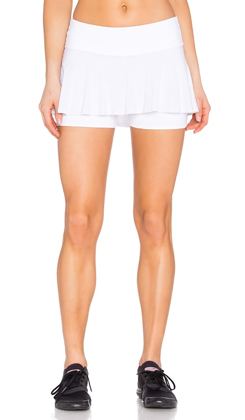 Beyond Yoga Sleek Stripe Tennis Skort in White