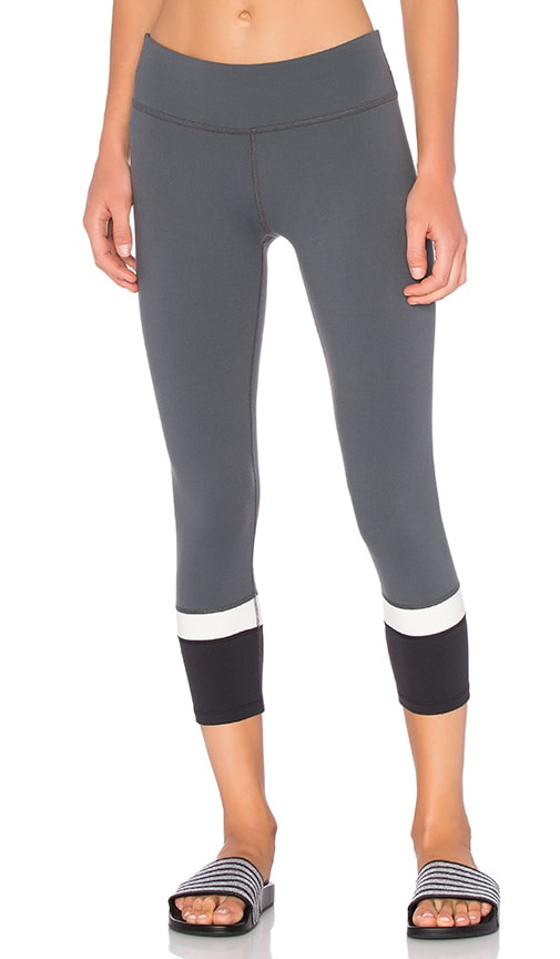 Beyond Yoga x Kate Spade Banded Capri Legging in Smoky Quartz