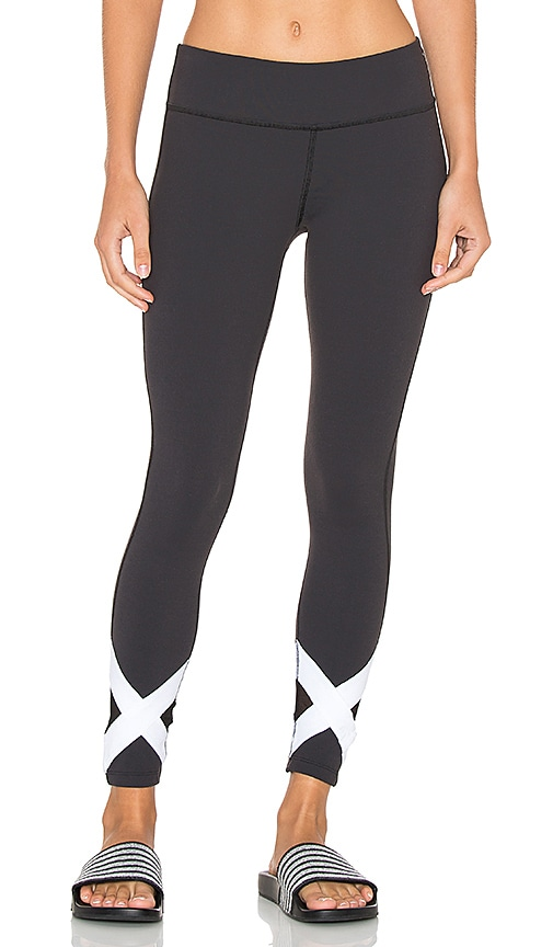 Beyond Yoga X-Marked Mesh Legging in Black