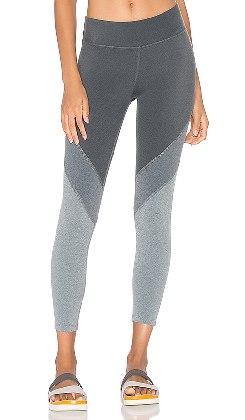 Beyond Yoga Plush Angles Capri Legging in Grey