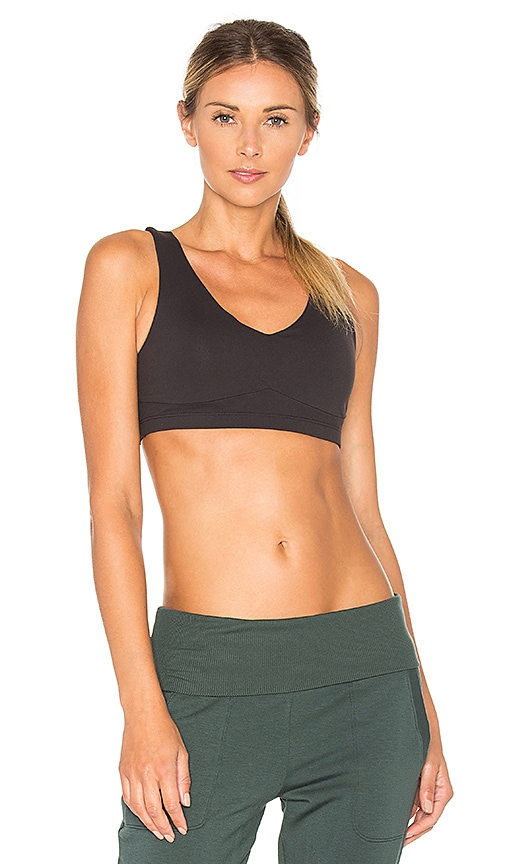Beyond Yoga Infinity Looped Bra in Black