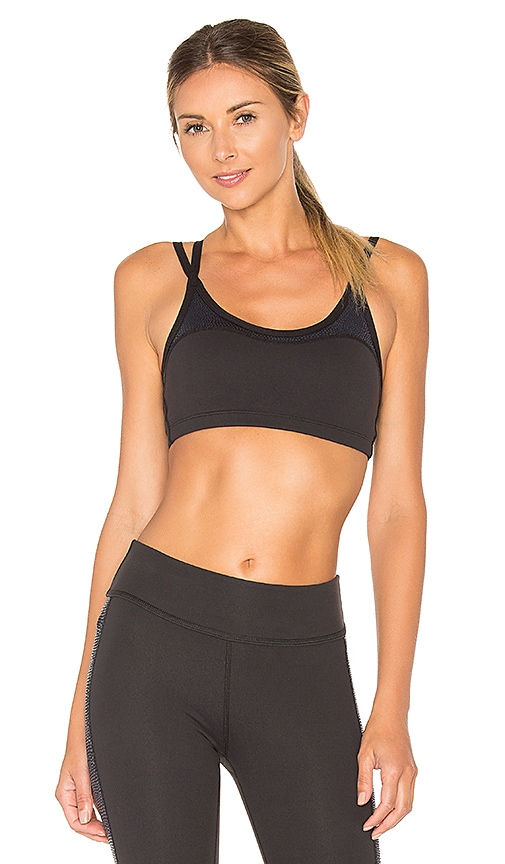 Beyond Yoga Glass Curved Bra in Black