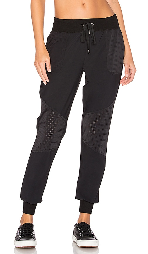 Beyond Yoga Picture Perforated Sweatpant in Black