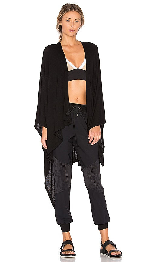 Beyond Yoga Open All Night Poncho in Black