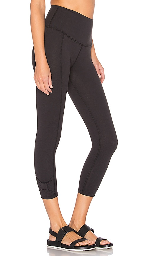 Beyond Yoga x kate spade Cinched Side Bow Legging in Black