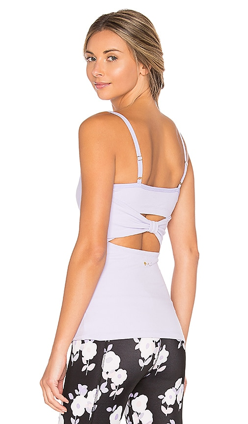 Beyond Yoga x kate spade Cinched Back Bow Tank in Lavender