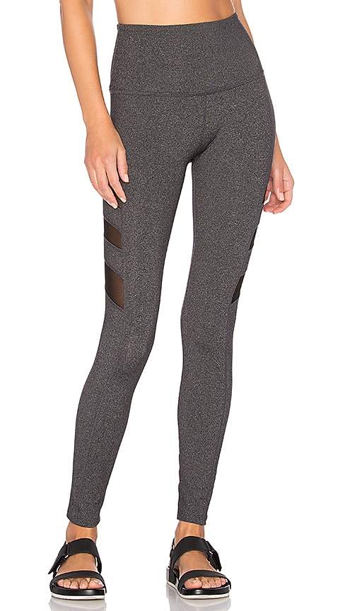 Beyond Yoga Triple Mesh High Waist Legging in Grey