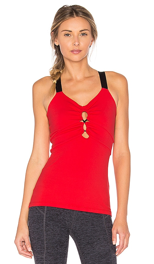 Beyond Yoga Infinity Looped Tank in Red