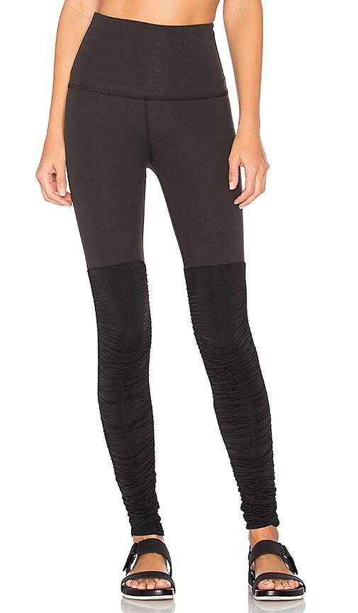 Beyond Yoga Sleek Stripe High Waist Legwarmer Legging in Black