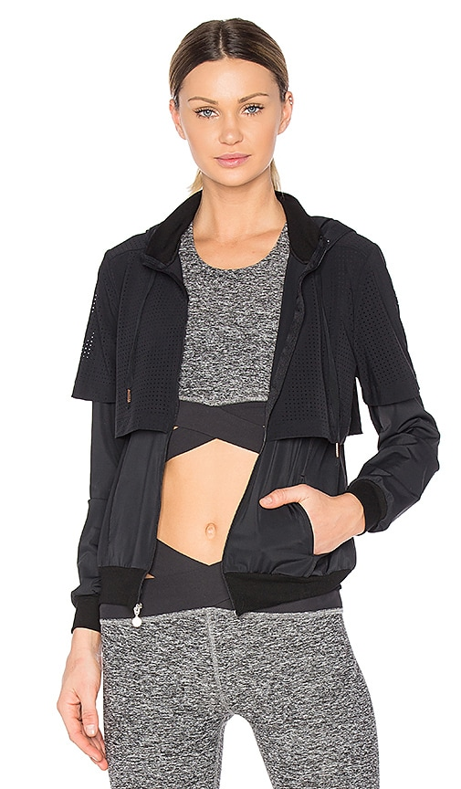 Beyond Yoga Picture Perforated Jacket in Black