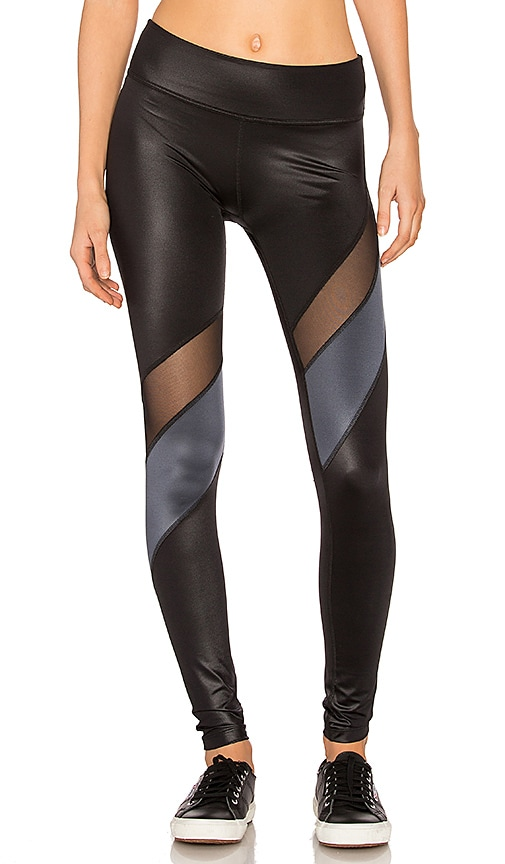 f1df6aa276 Beyond Yoga Gloss Over Waves Legging in Black & Rocky Gloss | REVOLVE