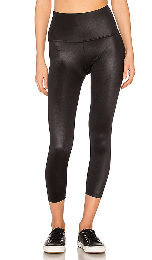 Beyond Yoga Gloss Over High Waist Capri in Black
