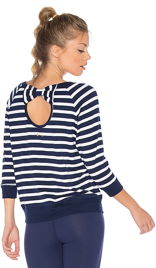 Beyond Yoga x kate spade Bow Cut Sweatshirt in Navy