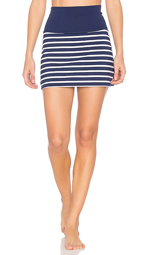 Beyond Yoga x kate spade Sailing Stripe High Waisted Skort in Navy