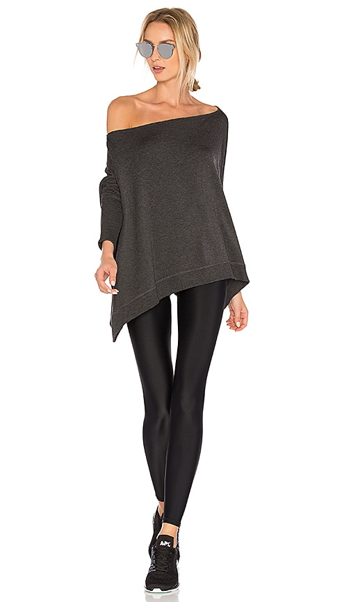 fbf7160c445 Beyond Yoga Cozy Fleece Convertible Cardigan in Charcoal Heather ...