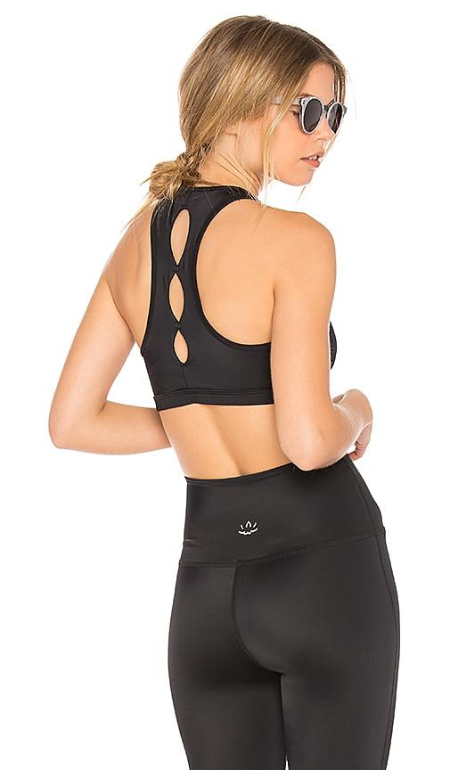 Beyond Yoga Lux Half Moon Bra in Black