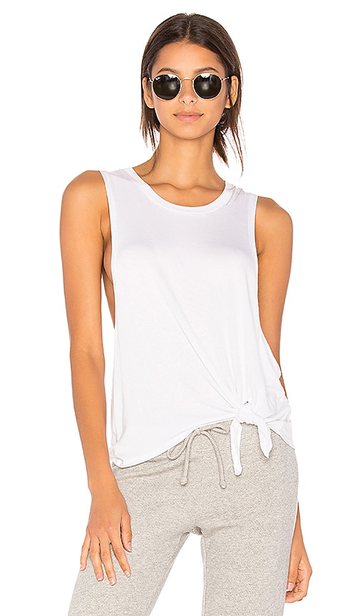 Beyond Yoga All Tied Up Racerback Tank in White