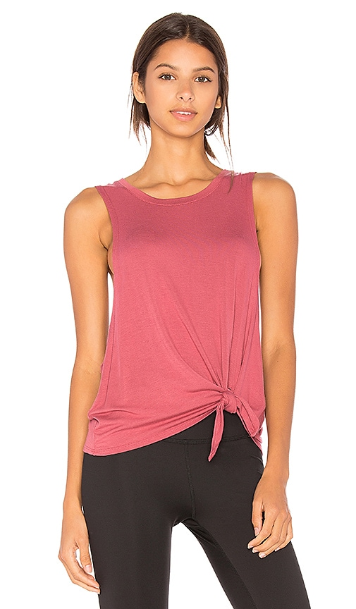 Beyond Yoga All Tied Up Racerback Tank in Rose